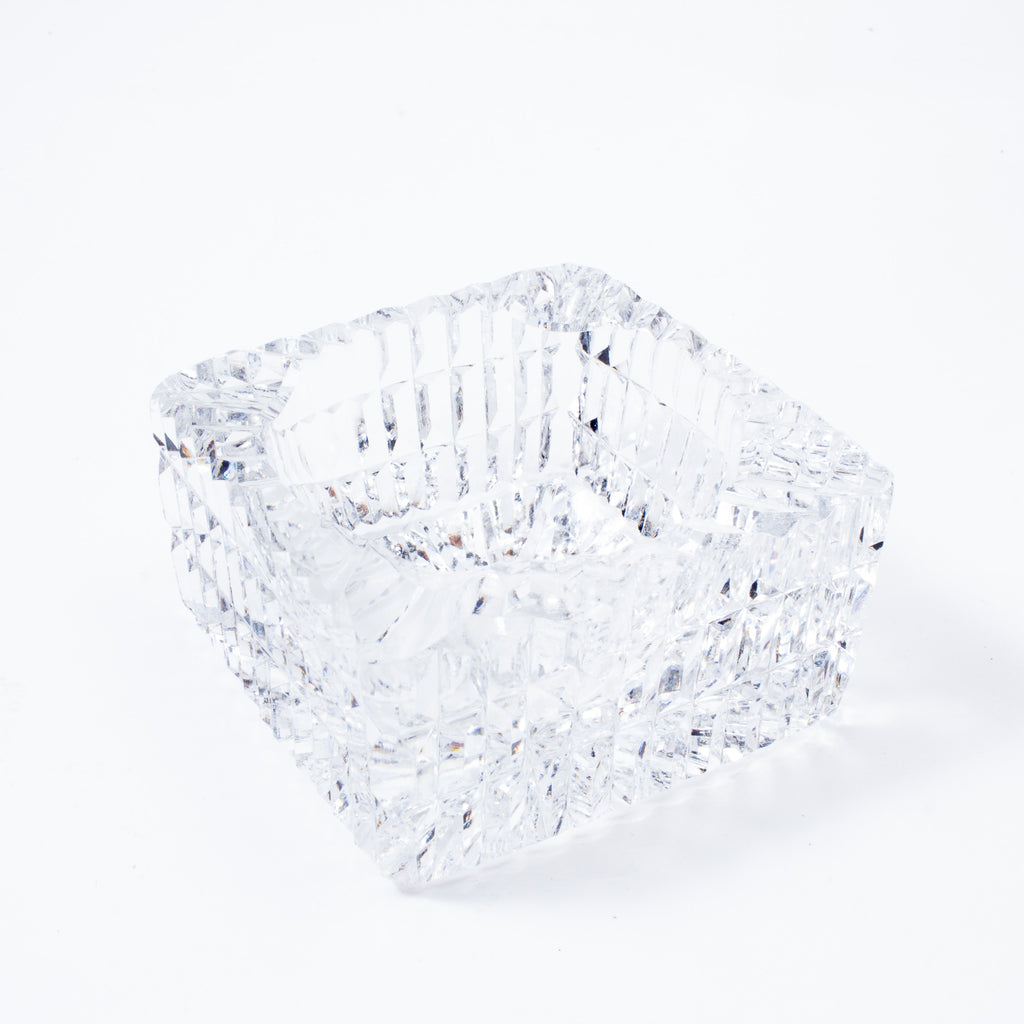Small Vintage Square Crystal Ashtray found in France