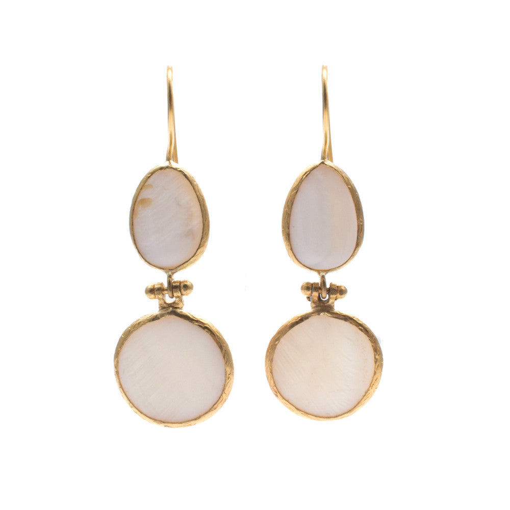 Turkish Delights Earrings: Mother of Pearl Earrings from Istanbul
