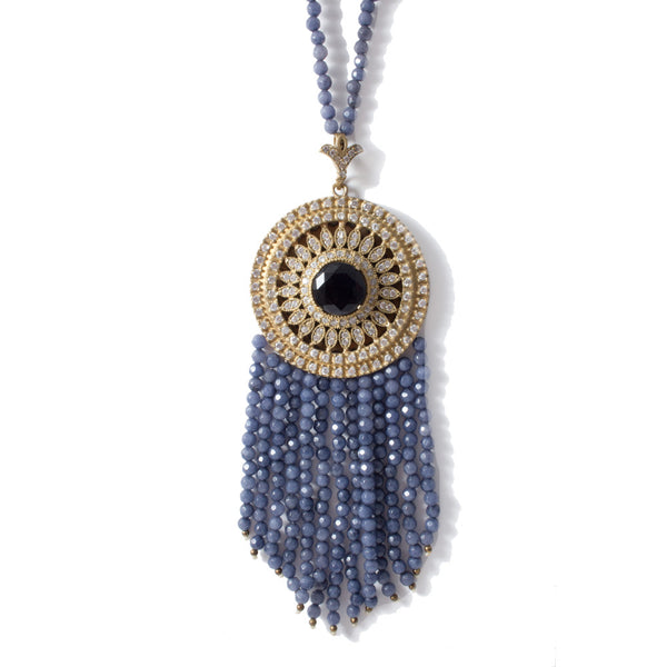 Turkish Medallion Tassel Necklace