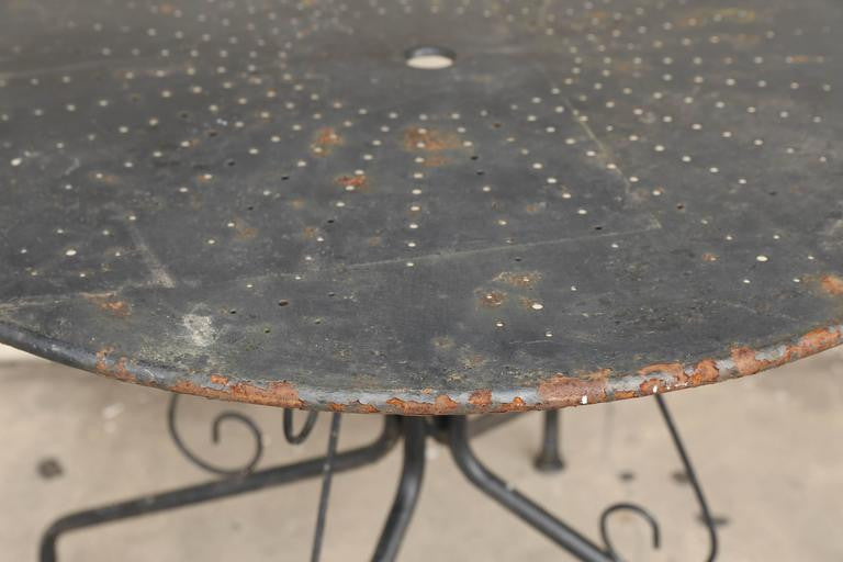 Large French Painted Garden Table from the 1920s