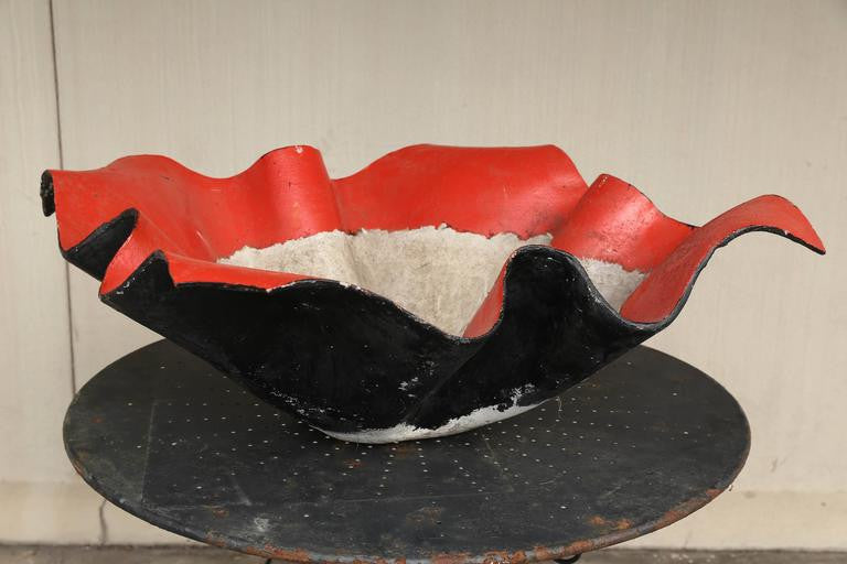 Large Mid-Century Willy Guhl Fiber Cement Handkerchief Planter