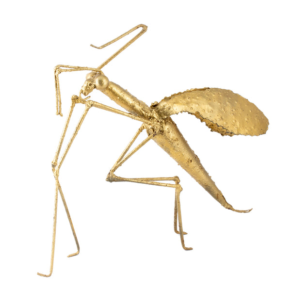 Mid-Century French Metal Mantis Sculpture