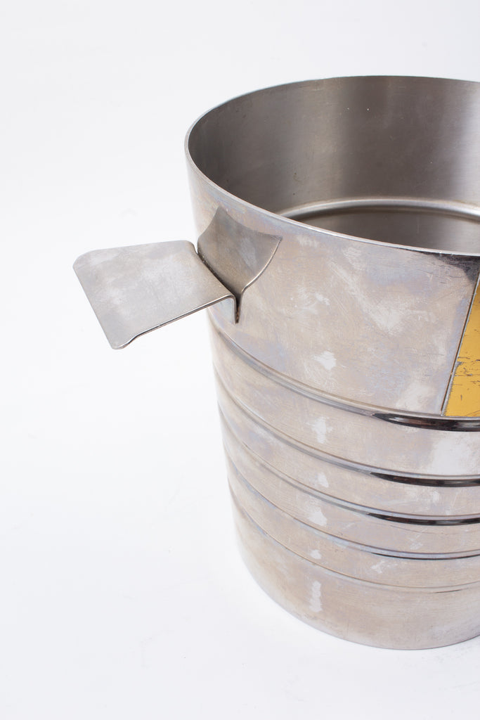 Vintage Stainless Steel Paul Bocuse Champagne Bucket found in France