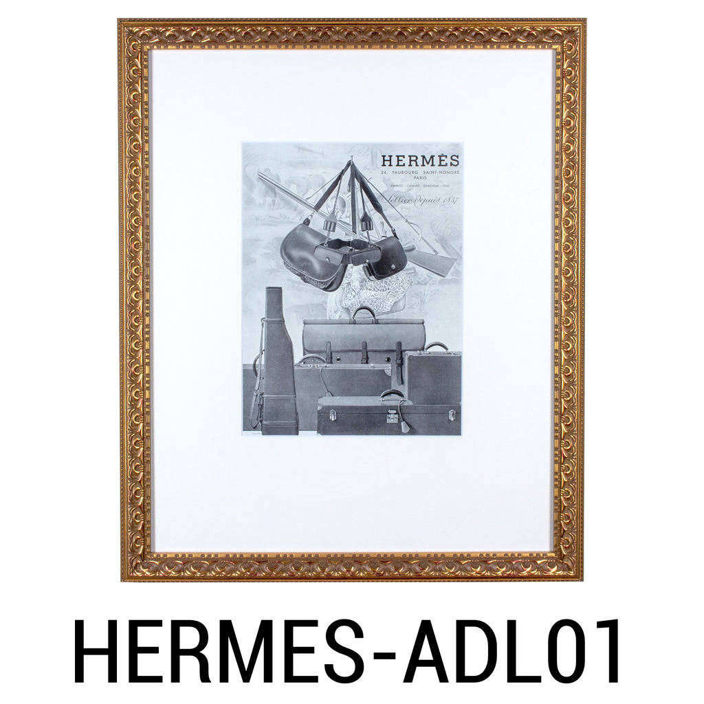 Framed Vintage French Hermès Luggage Print Ads