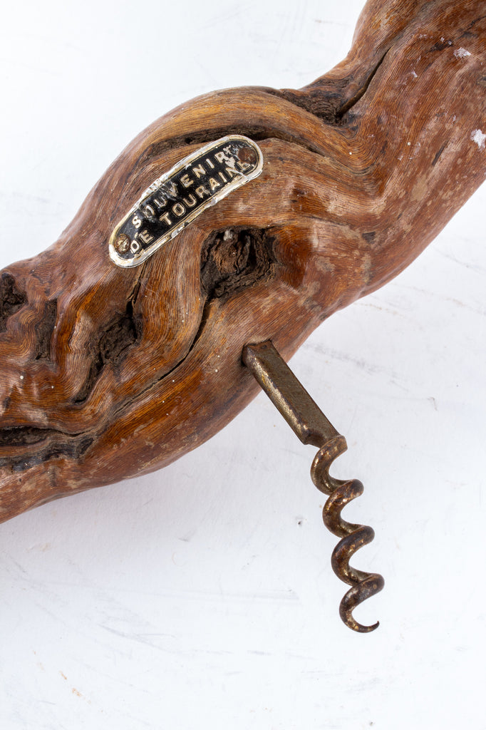 Large Vintage French Grapevine Corkscrew