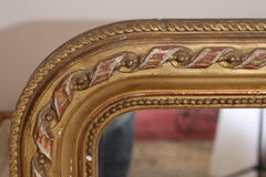 Antique French Louis Philippe Mirror with Ribbon Carving