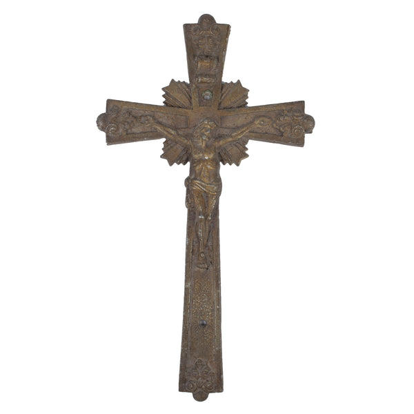 Large Vintage Metal Crucifix found in Italy