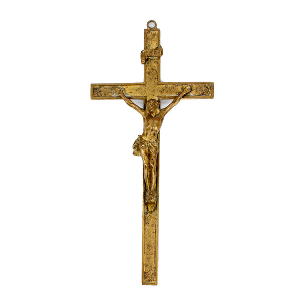 Antique Brass Crucifix found in Italy