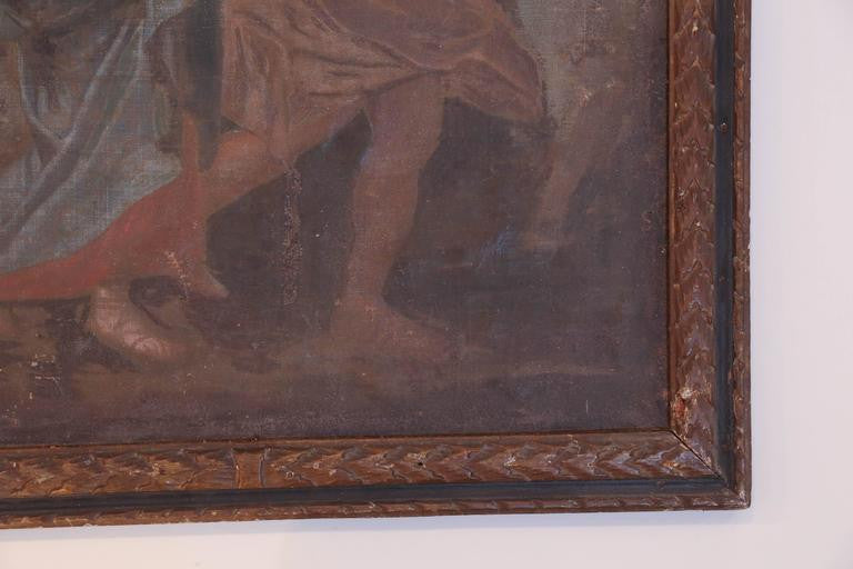 Antique French Religious Painting of Mary & Jesus from the Late 1800s
