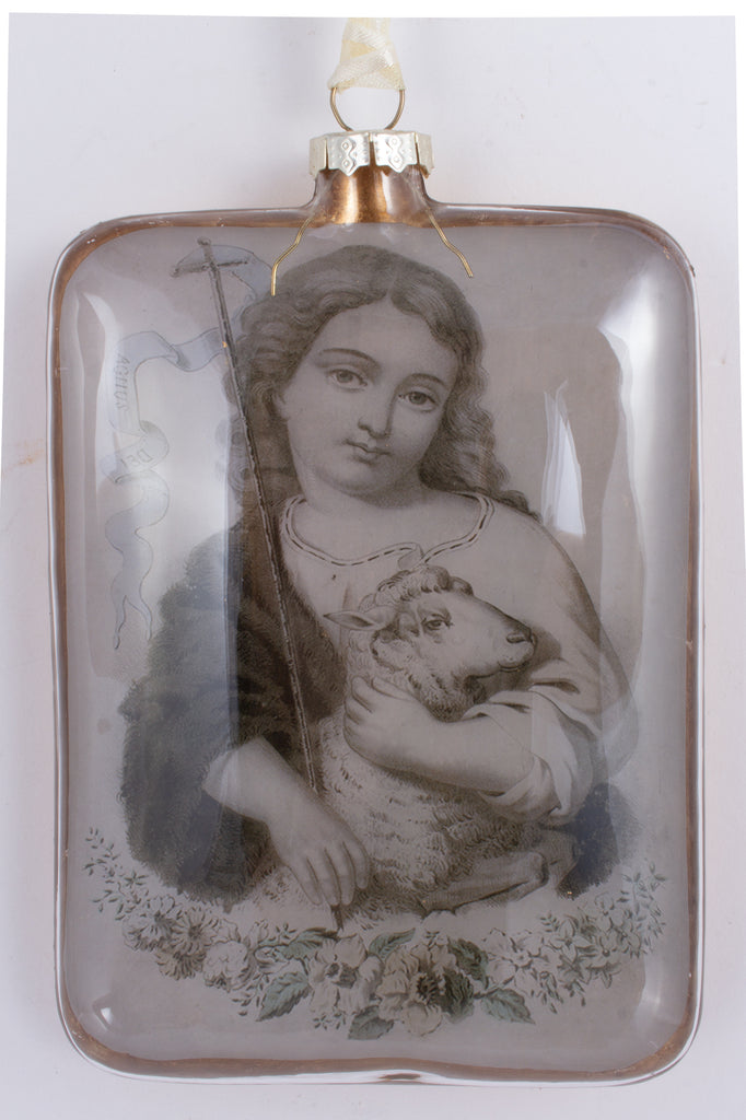 Handblown Glass Ornaments with Saints Images | Three Styles