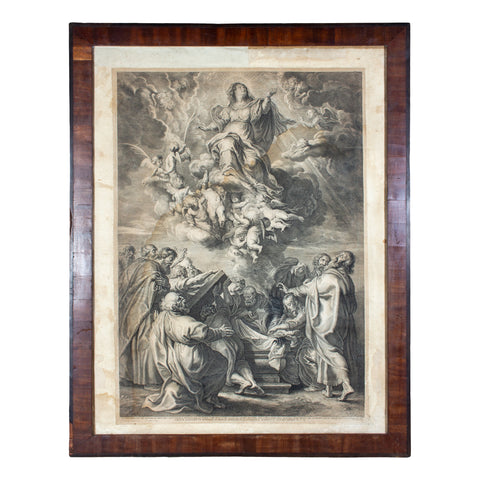 Framed Antique European Religious Print