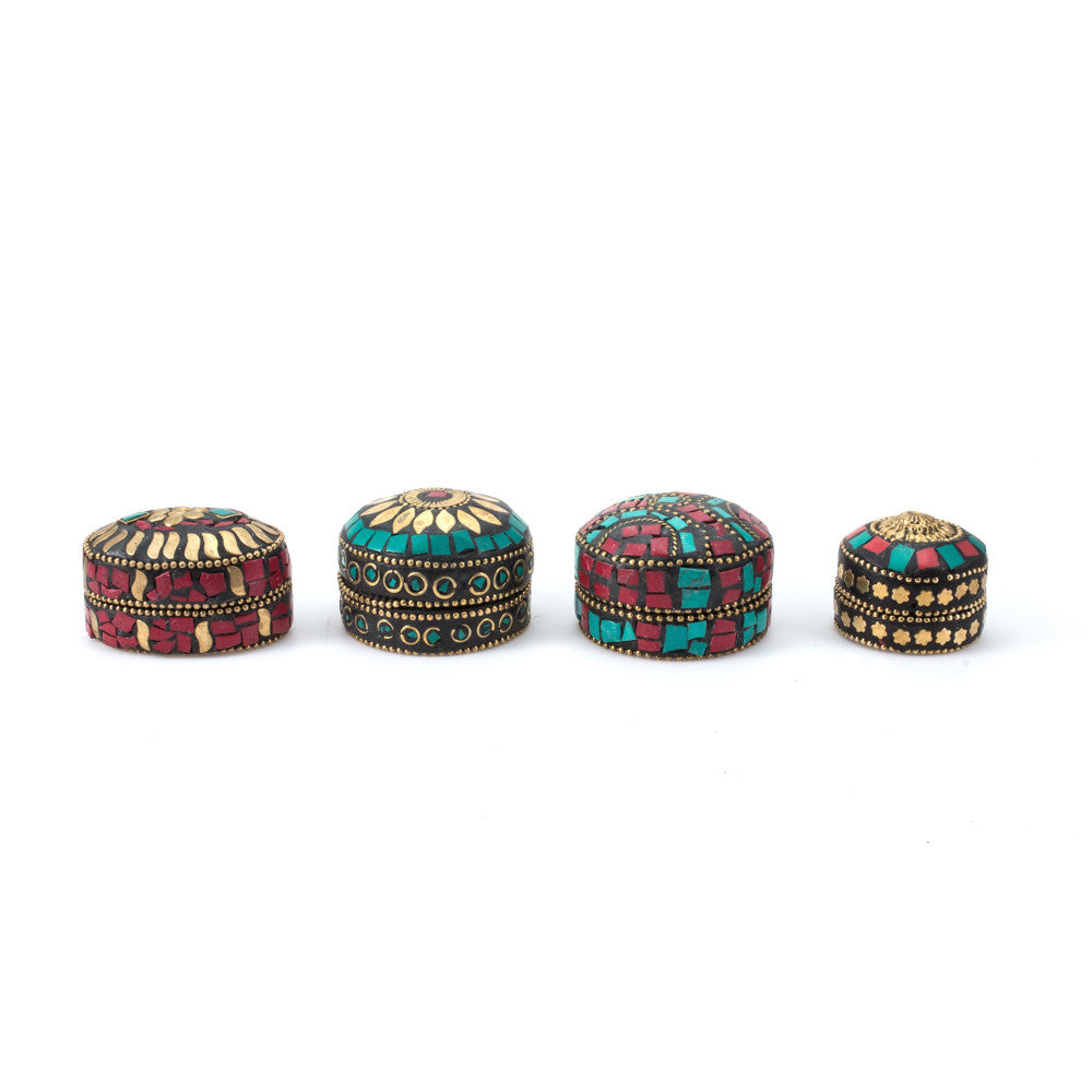 Himalayan Small Stone Trinket Boxes from Bhutan