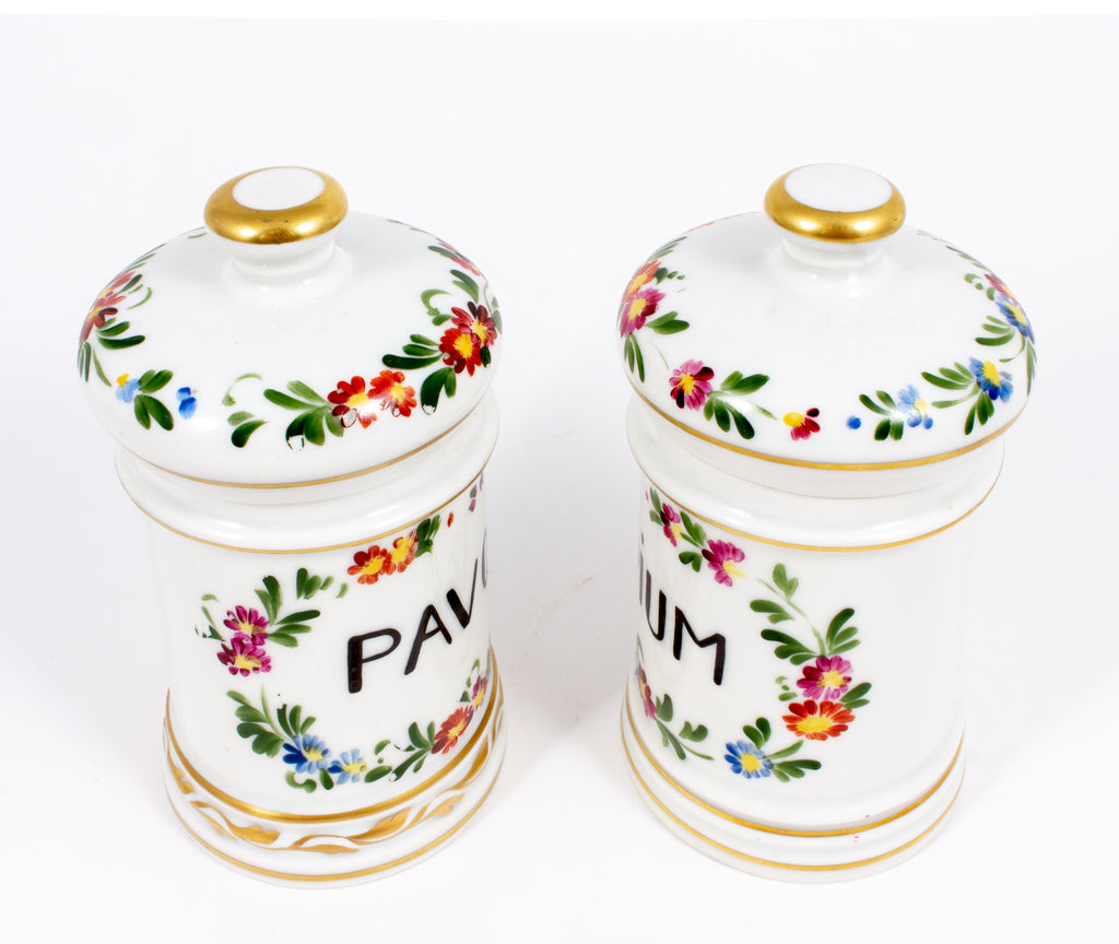 Pairing of Antique Limoges Apothecary Jars