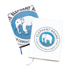 Recycled Elephant Cement Bag Travel Journal