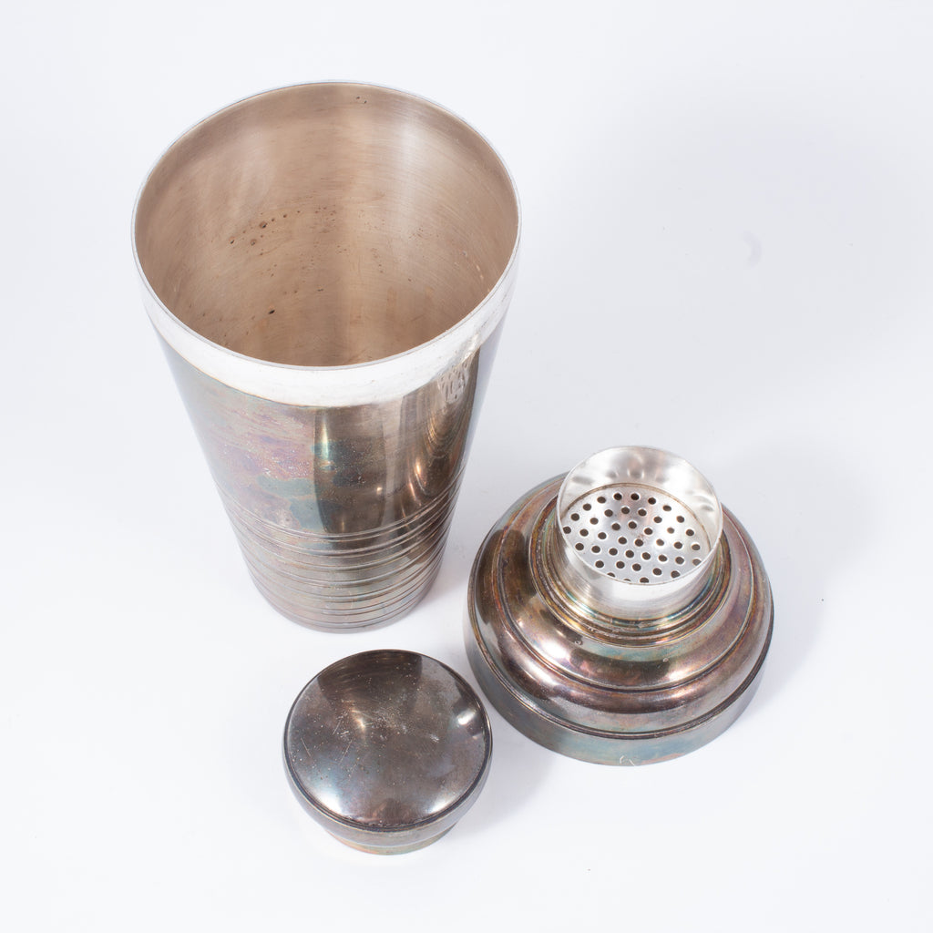 Vintage Large Silverplate French Cocktail Shaker