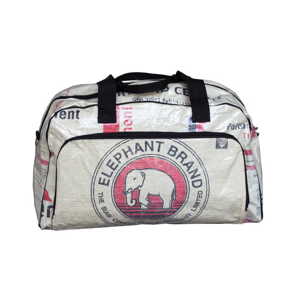 Recycled Elephant Cement Weekender Bag