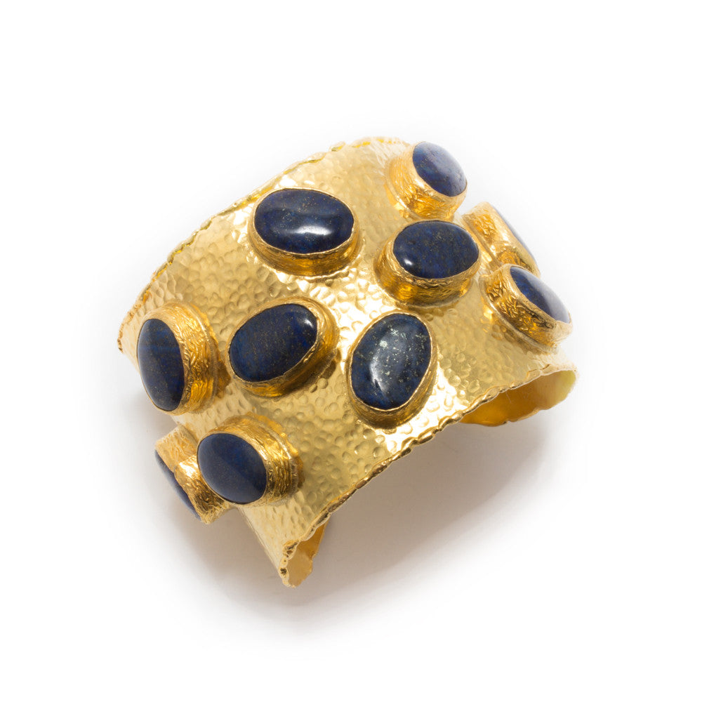 Oval Lapis Lazuli & Brass Cuff from Istanbul