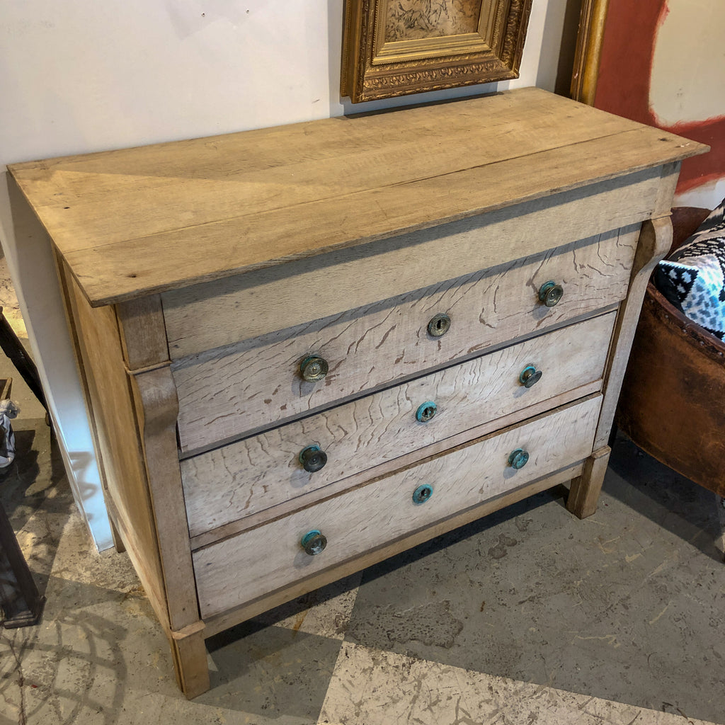 Antique Stripped Wood Louis Philippe Commode found in France