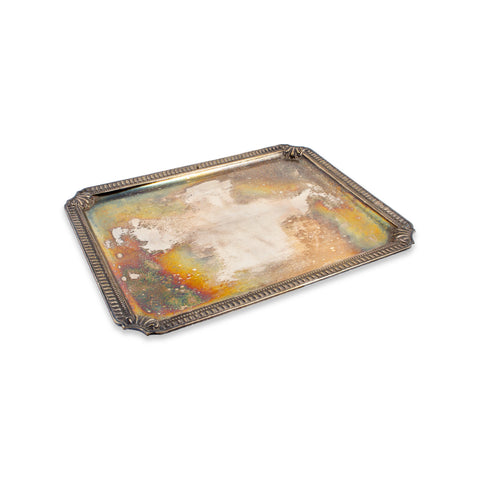 Small Vintage French Silverplate Tray