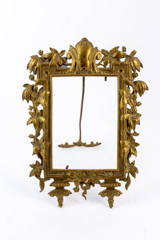Antique French Art Nouveau Brass Tabletop Frame