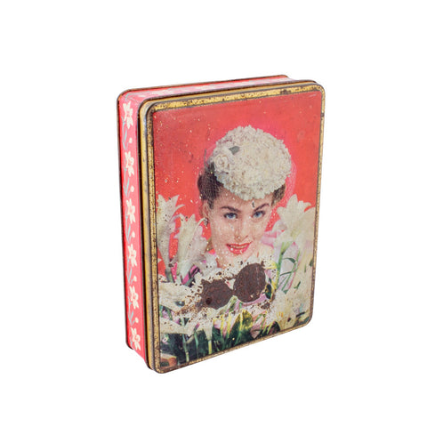 Vintage Decorated Tin Box found in France