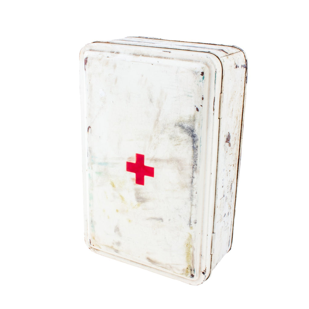 Vintage Metal First Aid Box found in France