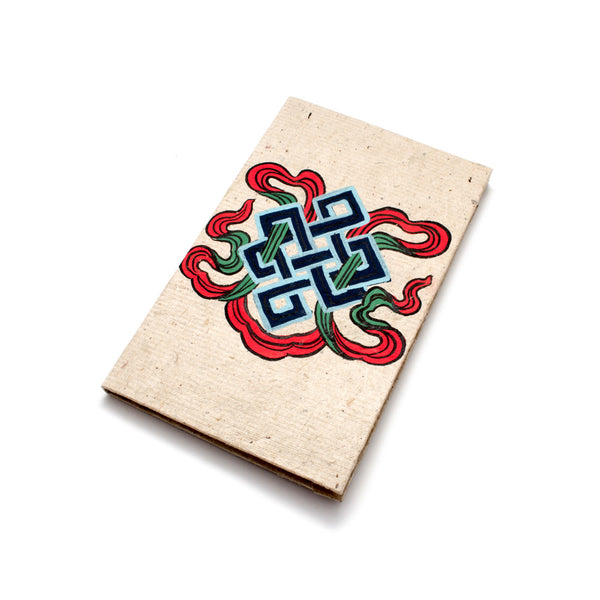 Bhutanese Endless Knot Hand Painted Small Journal