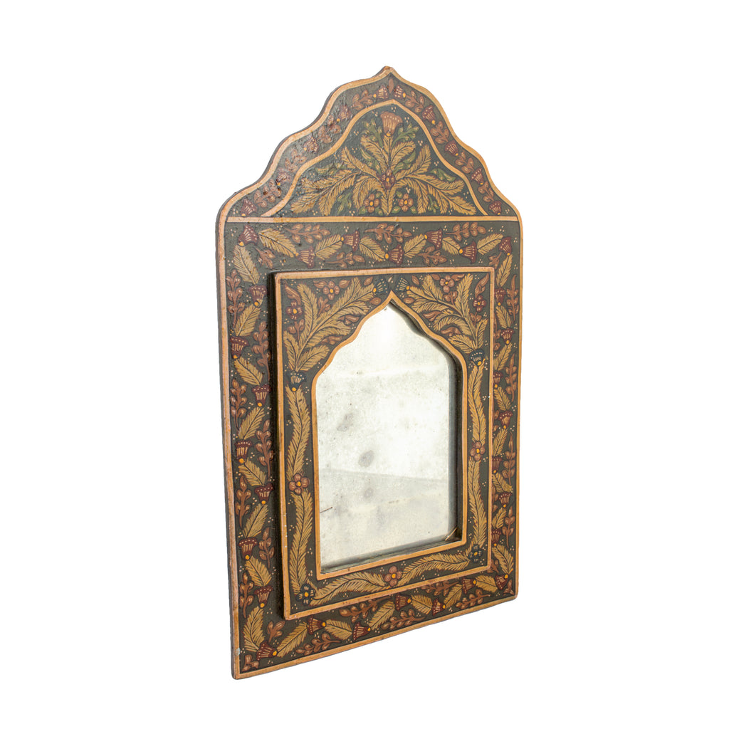 Small Antique Moorish Hand Painted Mirror