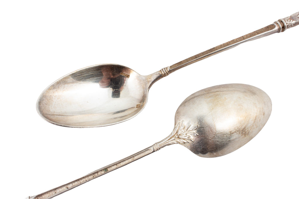 Antique French Silver Spoons - Set of Six