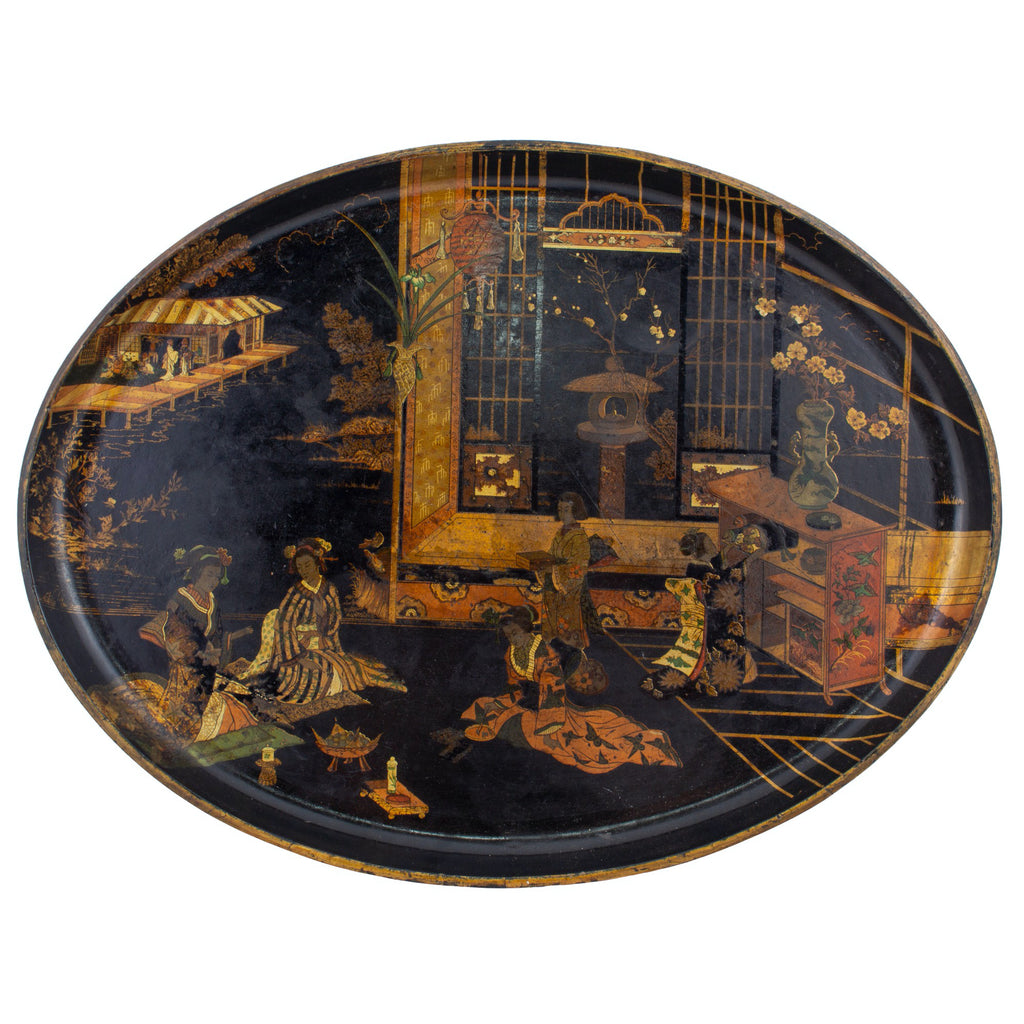 Antique French Chinoiserie Tray