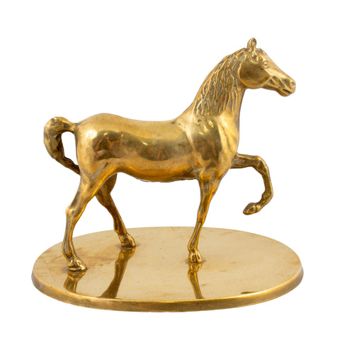 Antique French Brass Horse Sculpture