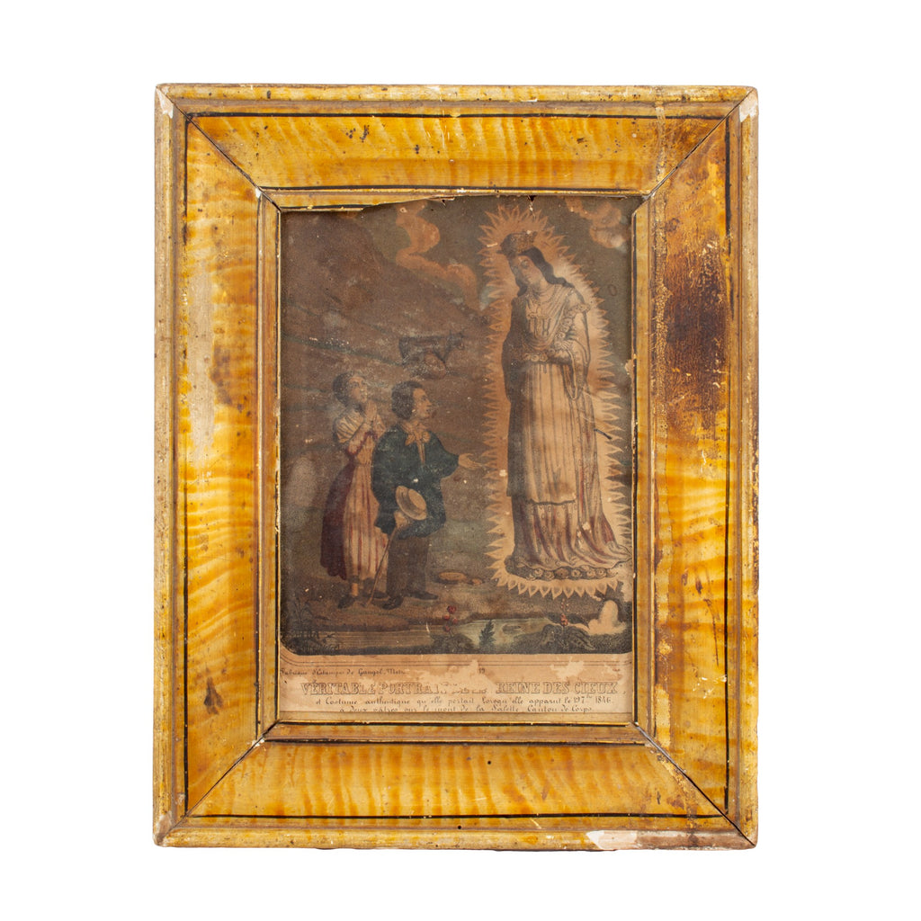 Antique Framed European Religious Print found in France