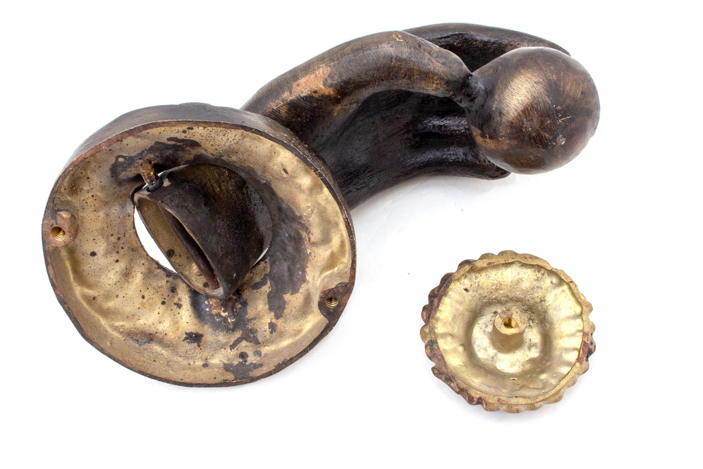 Oversized Burnished Brass Hand Door Knocker from San Miguel