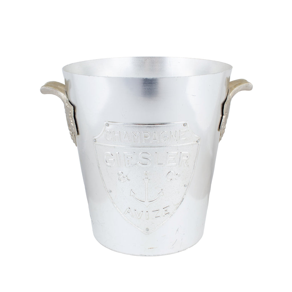 Vintage French Geisler & Co. Ice Bucket with Embossed Details