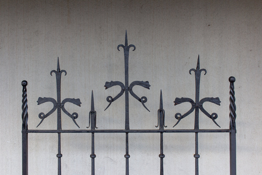 Pair of Antique Spanish Wrought Iron Screens/Grills Found in Italy
