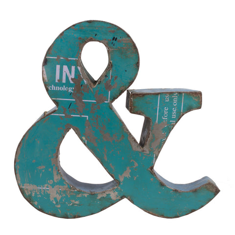 Reclaimed Metal Ampersand