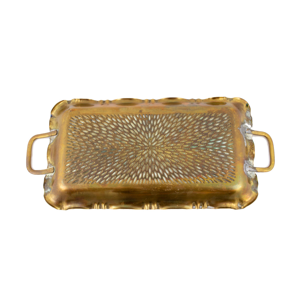 Small Vintage French Brass Tray