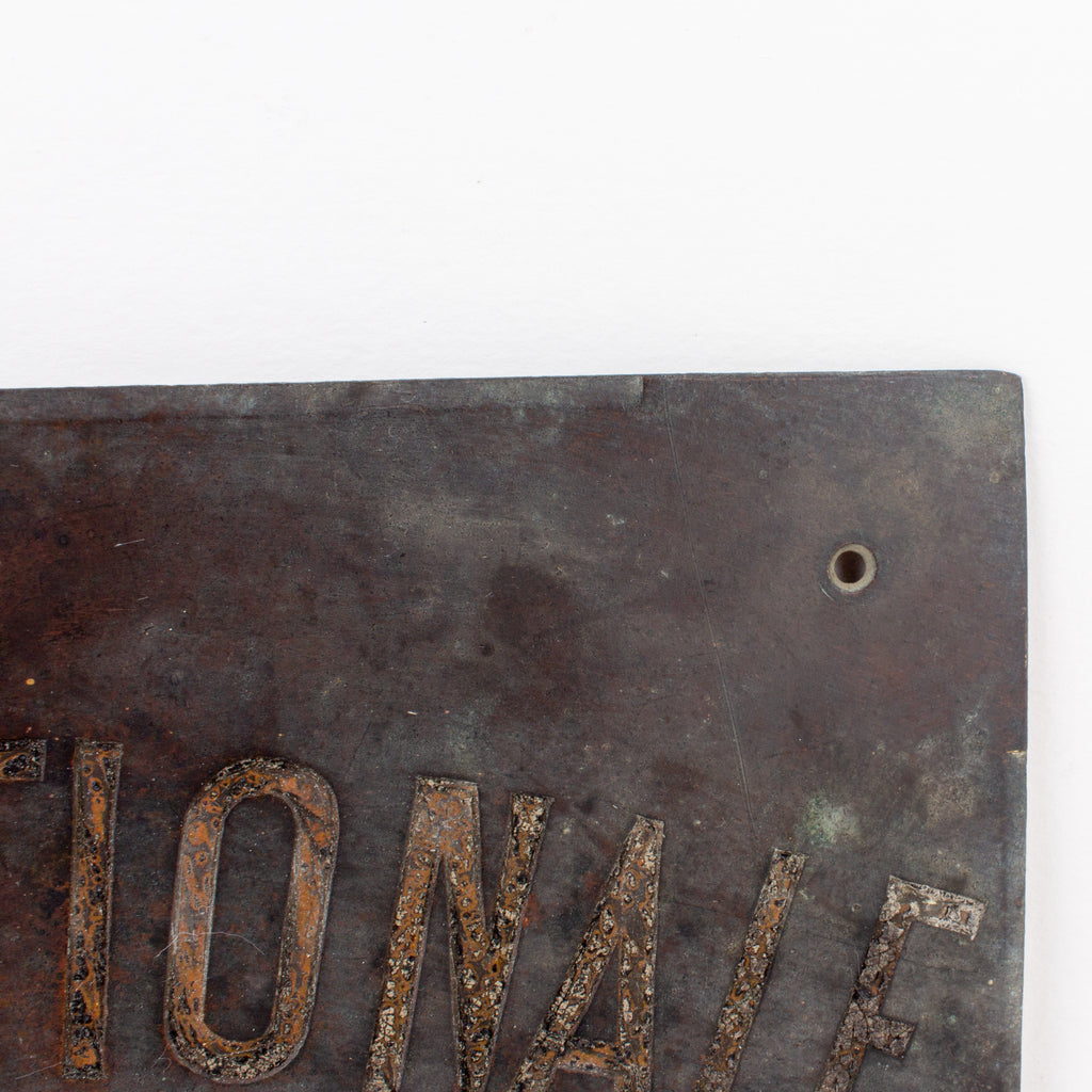 "Antique French ""Travel Agency"" Bronze Plaque"