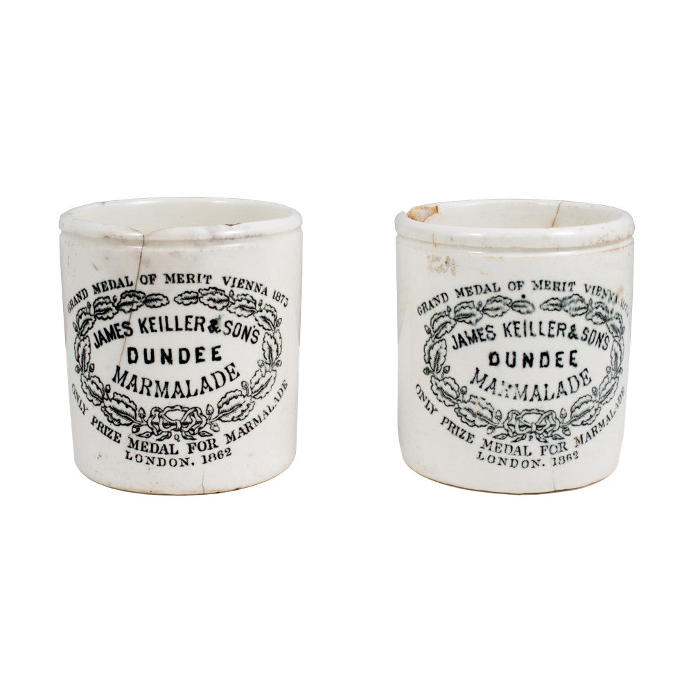 Vintage Dundee Marmalade Stoneware Containers