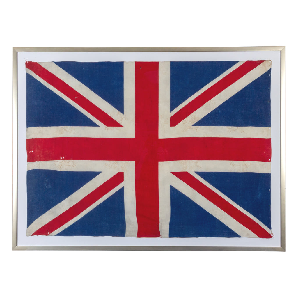 Framed Vintage Union Jack Flag found in France