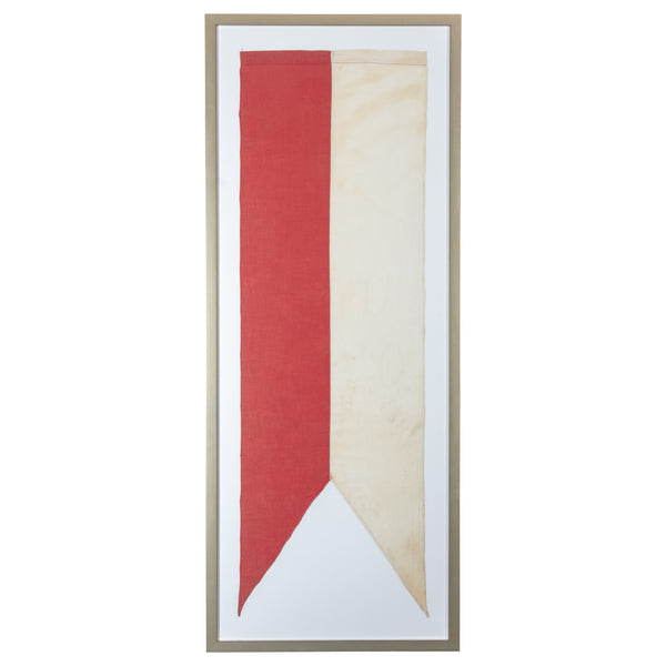 Framed Belgian Swallowtail Banner Flag
