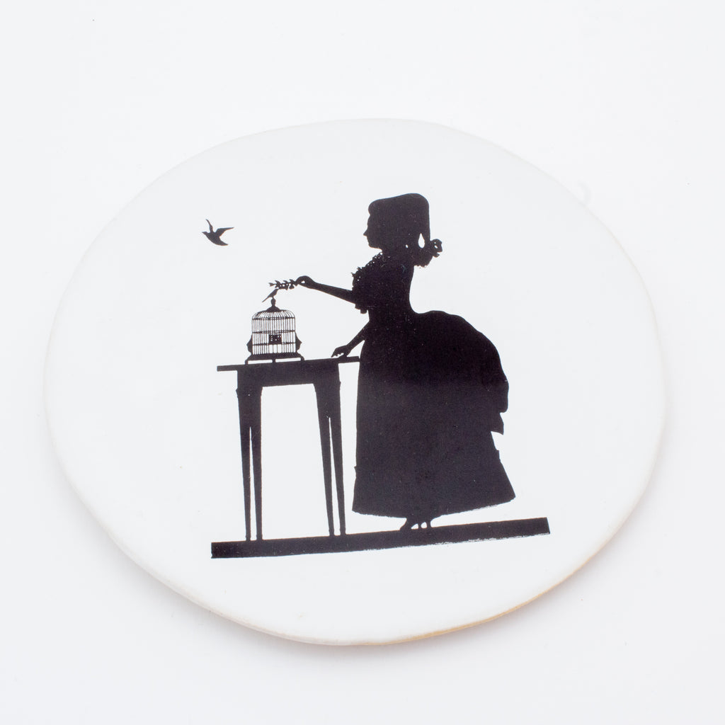 Kuhn Keramik Lady with Birdcage Very Small Plate