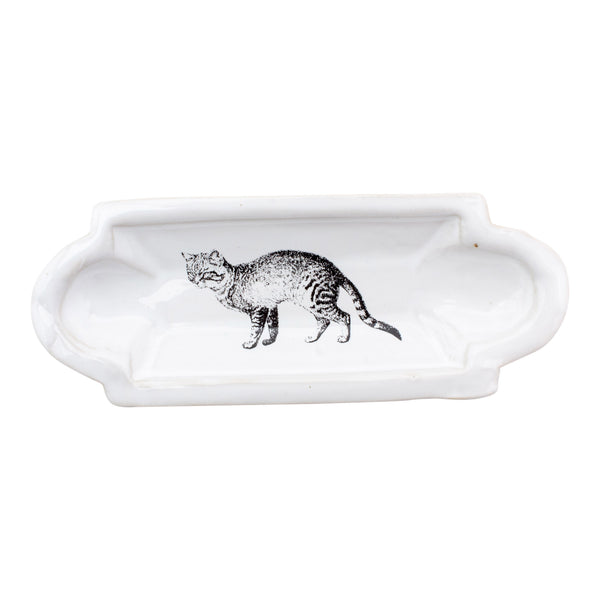 Kühn Keramik Long Asher Tray - Tabby Cat
