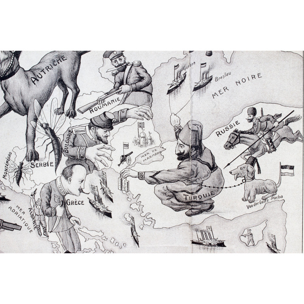 Antique Belgian WWI Dogs of War Campaign Print