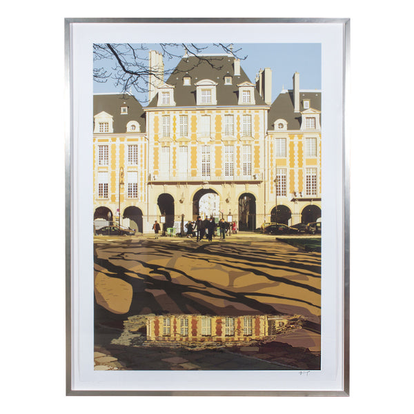 """Place de Vosges"" by Parisian Artist Jean-Jacques Greif (Framed or Unframed)"