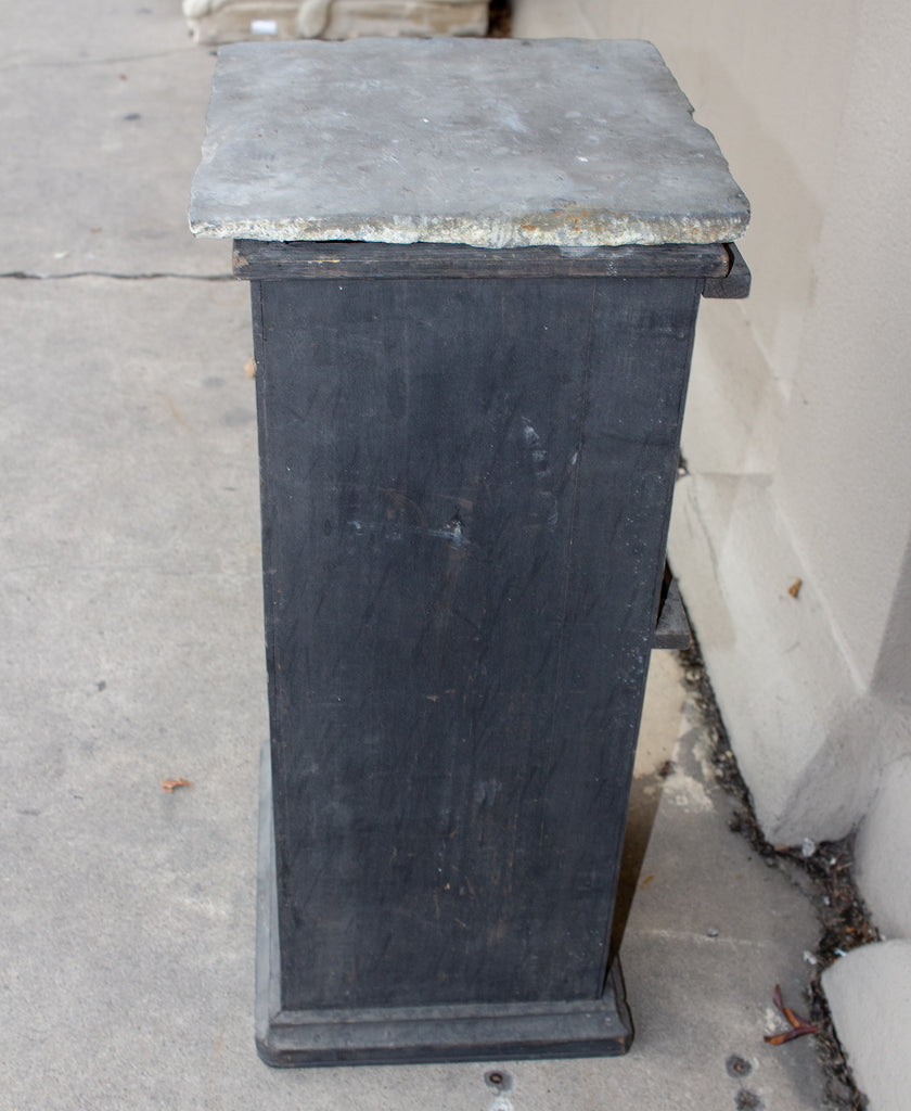Antique French Wood & Slate Pedestal found in France