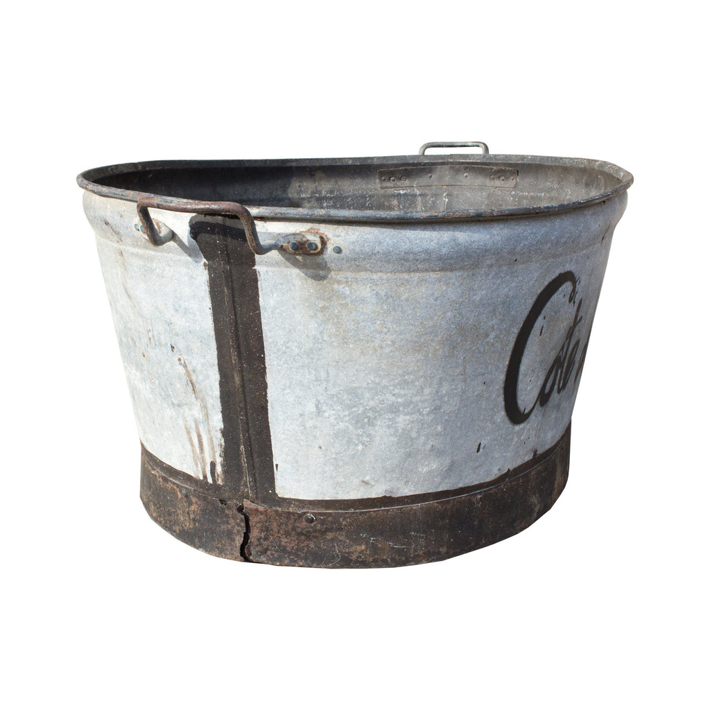 "Antique French Large Zinc ""Cote de Provence"" Tub"