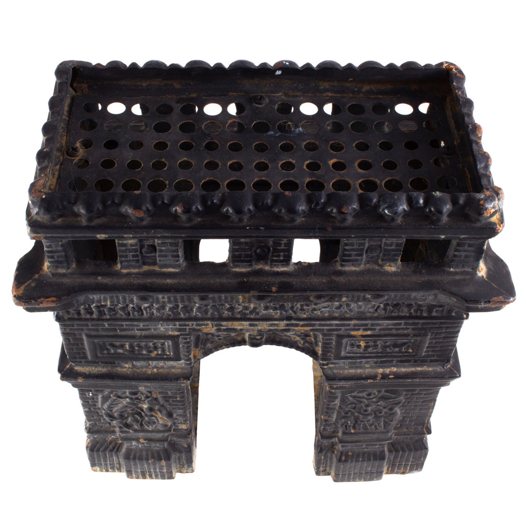 Vintage French Iron Arc di Triomphe Candle Holder