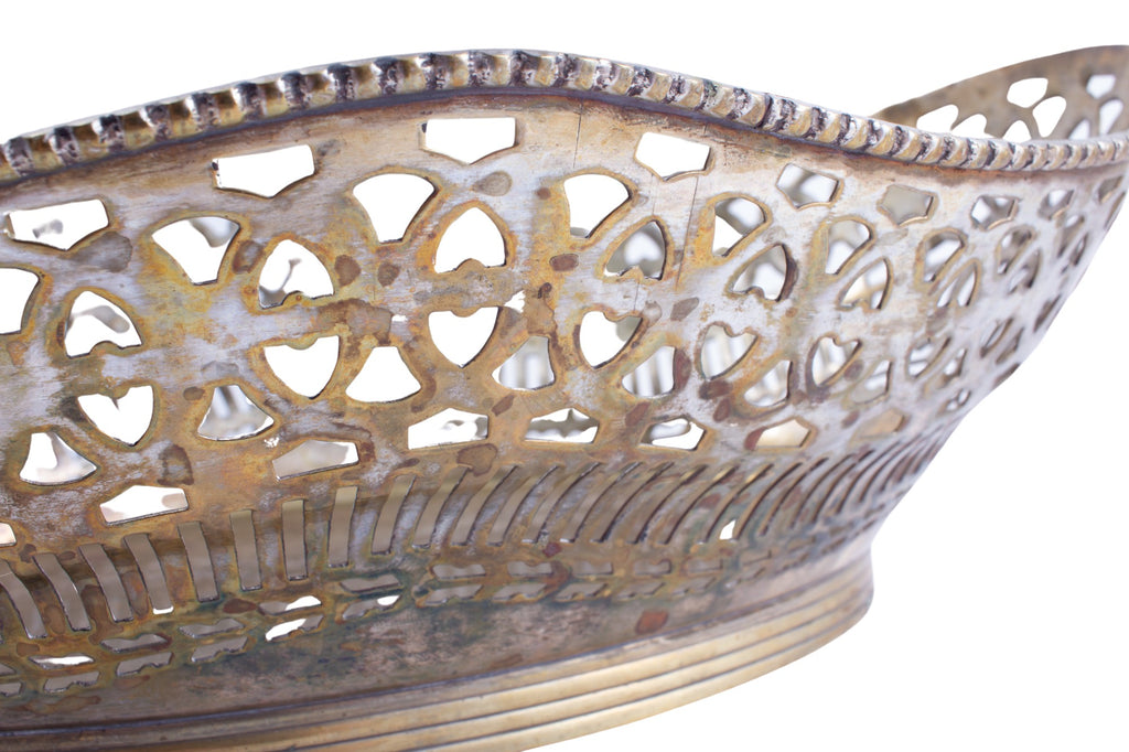 Vintage French Pierced Metal Bowl