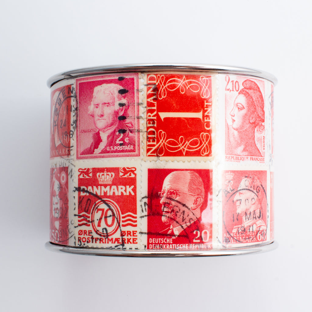 Stamp Collection Cuff | Red